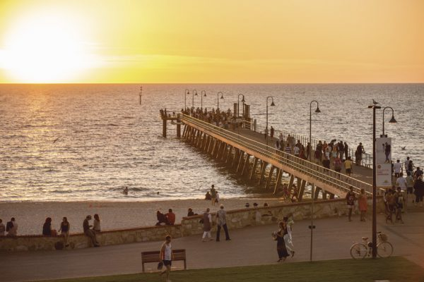 Sunset at Glenelg Beach