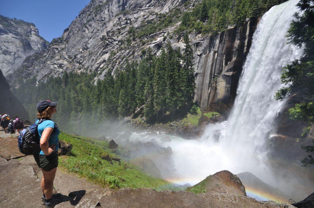 Hiking in California's world famous Yosemite National Park