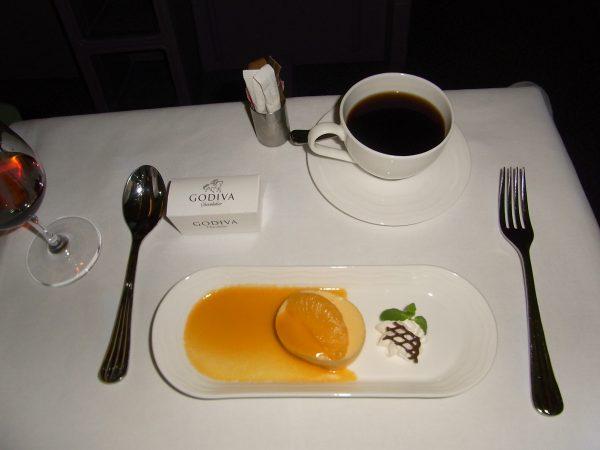 エミレーツ航空、機内食(デザート)